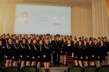 Общее фото со студентками педколледжа