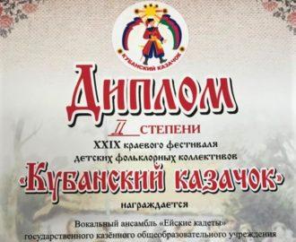 Диплом 2 ст._Кубанский казачок_2020