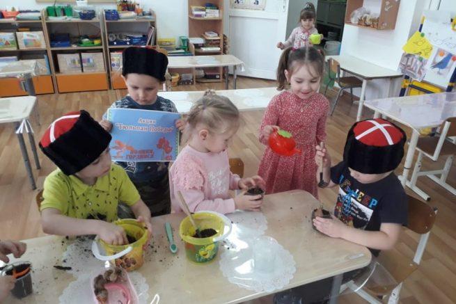 юные казачата высаживают будущие тюльпаны (3)