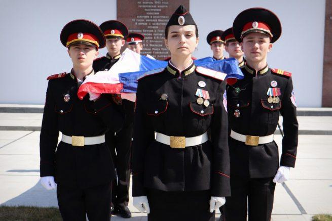 Воспитанники Церемониального отряда Честь имею Ленинградского района готовятся к показательному выступлению
